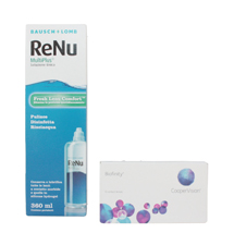 Biofinity (6 lenses)+ Renu multiplus (360 ml)